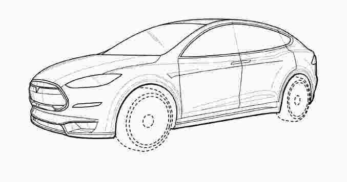 tesla model x coloring page in 2020   Tesla