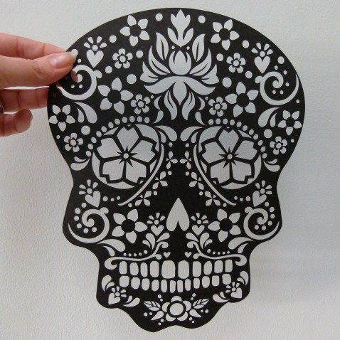 Paper Cut Sugar Skull Unframed | wowthankyou.co.uk