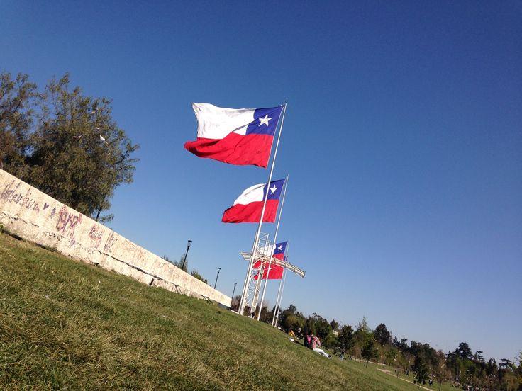 Banderas del Parque O'Higgins