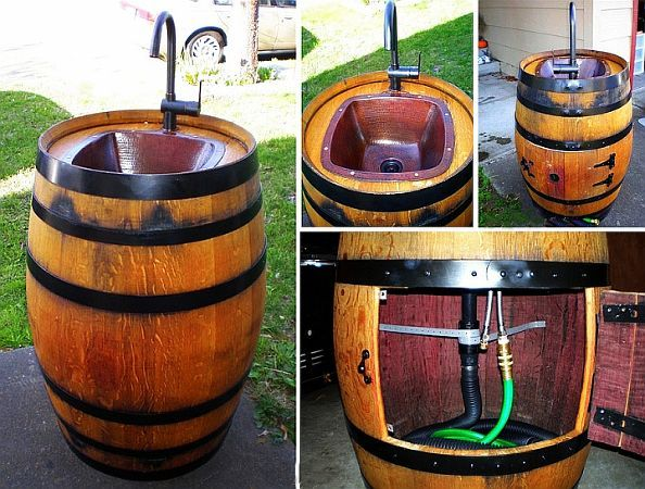 Easy DIY Keg Sink for Your Backyard ! So Cheap And Clever !!