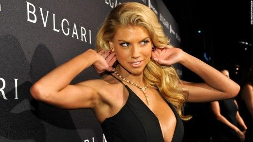 Super Bowl commercial, model Charlotte McKinney and partner Keo Motsepe — who taped her breasts down during practice — danced a jive, which earned 22/40. Description from cnn.com. I searched for this on bing.com/images