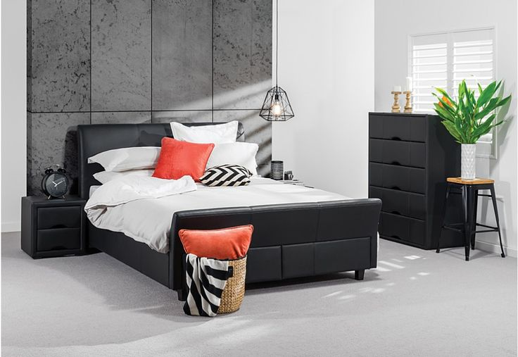 Josee 4 Piece Tall Chest Queen Bedroom Suite   Super A-Mart