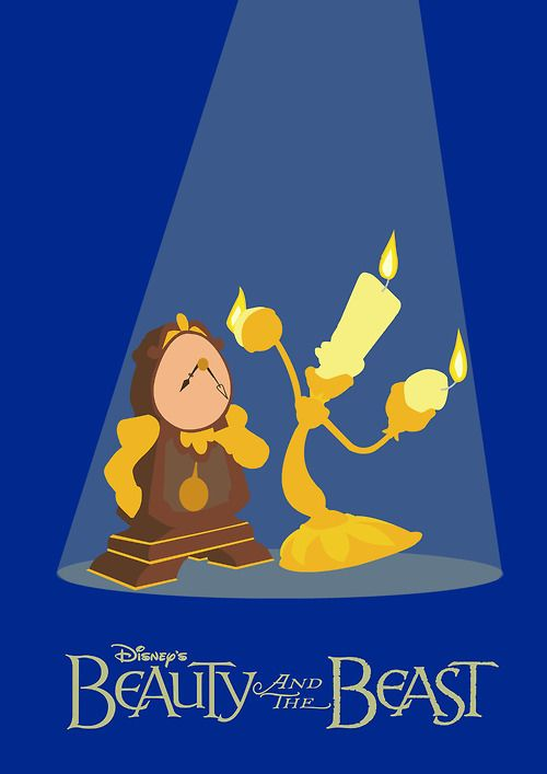 Beauty and the Beast, Minimal Movie Posters; even without the movie name, this poster would be recognizable.
