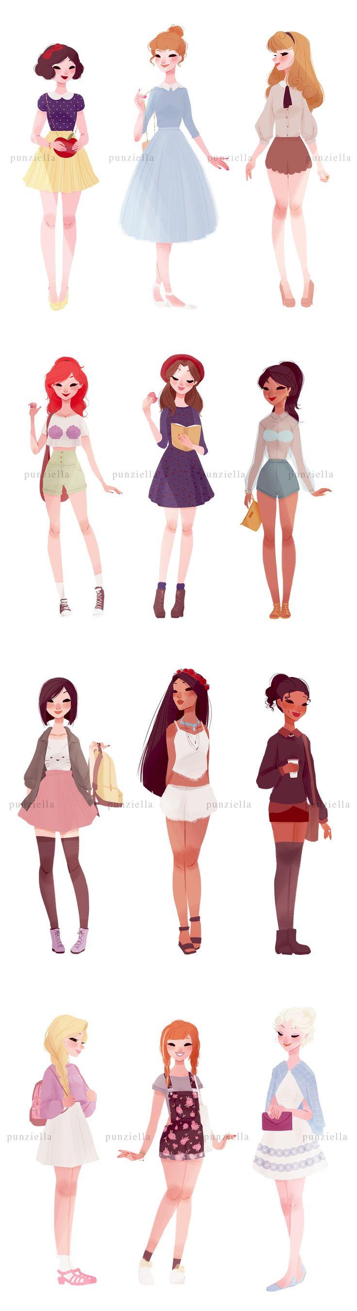 Disney princesses #casual