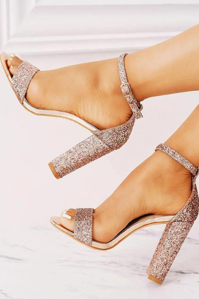 6de24f70909 Sparkling Rose Block Prom Heels. Your prom shoes should be comfortable!  Sparkly