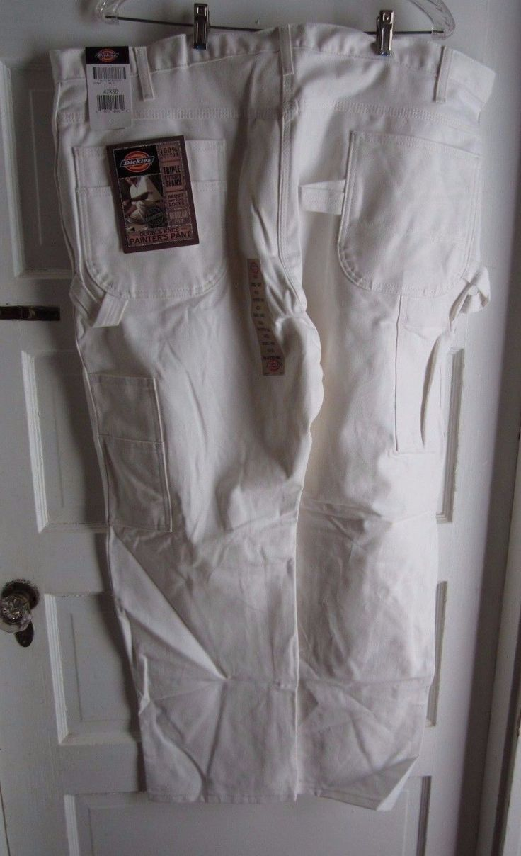 Dickies Double Knee Painter Pants Carpenter Work Utility White Jeans Mens 2053WH