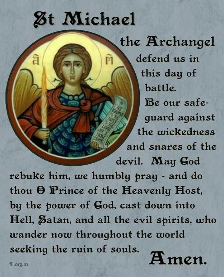 Prayer to St Michael