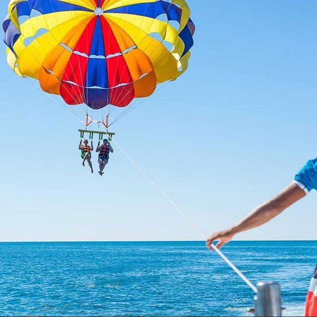 Make the most of your hours at the beach with a wide range of #watersports activities available at Grecian Sands beach!  #greciansands #greciansandshotel #beachfun #extremesports #watersportsaddict #beachday #ayianapa #cyprus