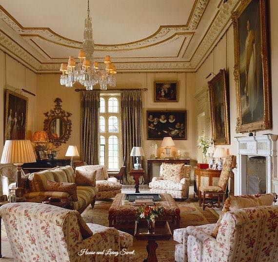 What An Elegantbeautiful English Living Room