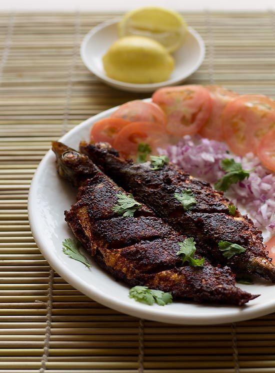 Indian: Recheado Masala Fish, a spicy paste made of chilies, tamarind, and garlic (amongst other spices) is rubbed onto whole fish, then fried.