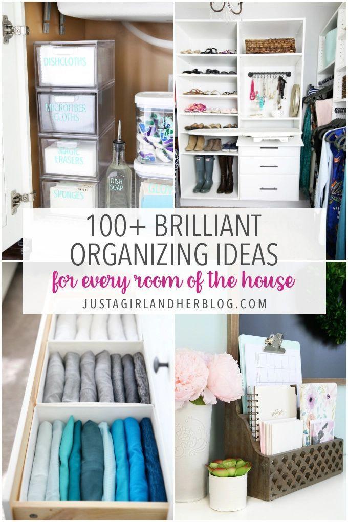 Brilliant Home Organization Tips For Every Room Of The House Home Organization Hacks Home Organization Closet Hacks Organizing