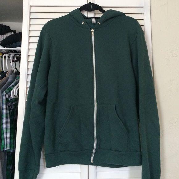 American apparel green zip up Dark green hoodie American Apparel Sweaters