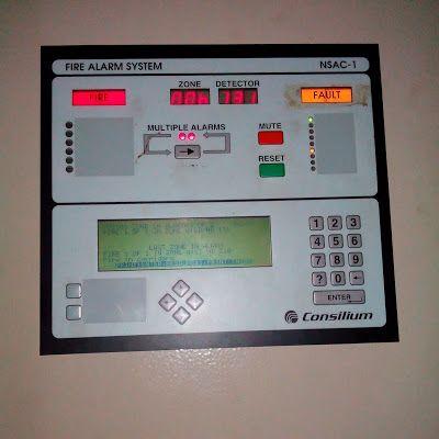 Test and Repair Fire Alarm System Consilium NSAC-1