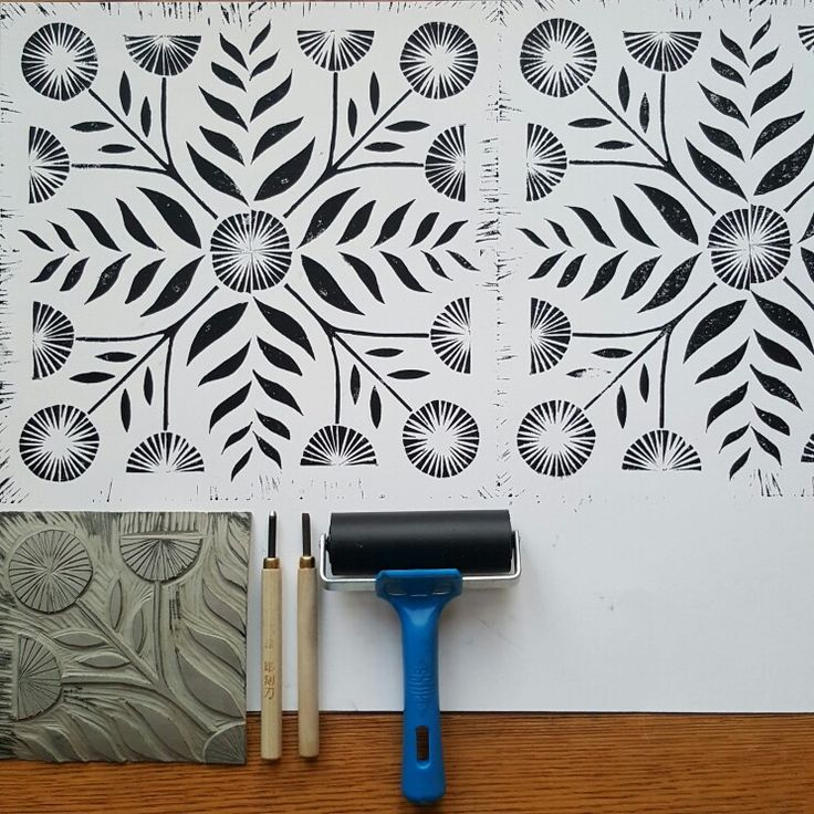 Lino print by @lusummers