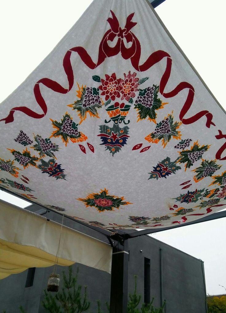 Fabric awning at Heyri Art Village