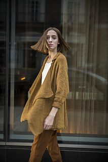 """Skyscraper by Norah Gaughan is a longline cardigan in a DK 8ply. Knit sideways and sized:30 (34-38-42-46-50)"""""""