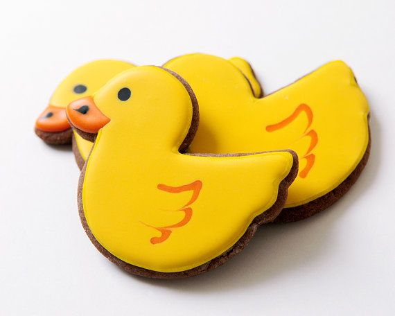 Rubber Duck Sugar Cookies by guiltyconfections on Etsy, $23.00