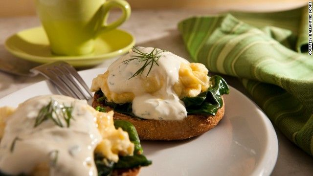 """This scrumptious breakfast dish uses a lightened-up version of Hollandaise sauce. See below for this recipe and others from """"Biggest Loser"""" ..."""