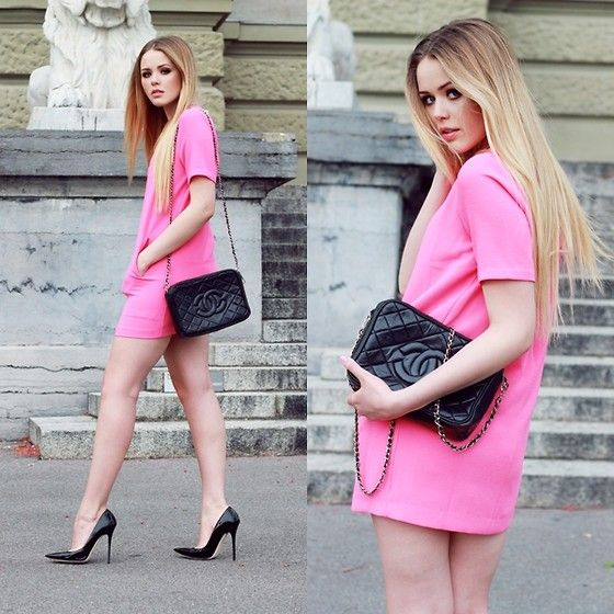 NEON PINK (by Kristina Bazan) http://lookbook.nu/look/3552873-NEON-PINK