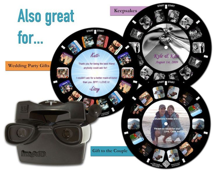 Make your own custom View Master-style wedding invitations with Image3D