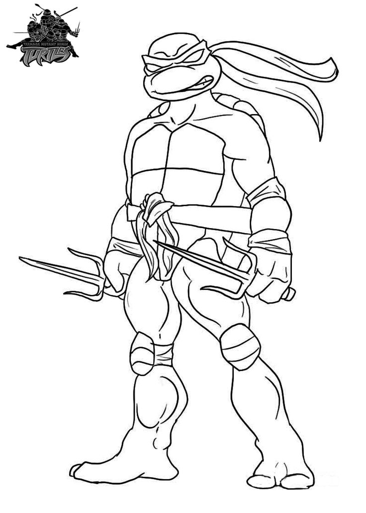 Ninja Turtle Coloring Pages For