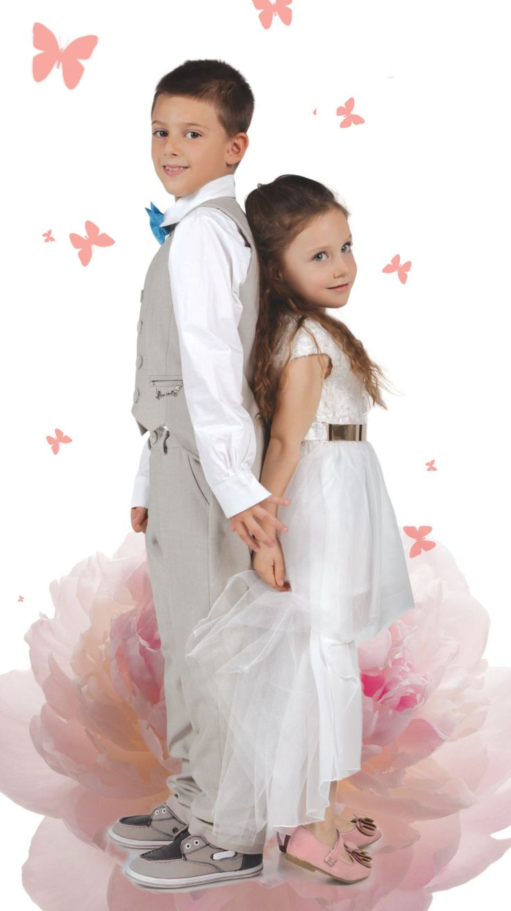 Add some sparkle to momentous occasions with this exquisitely crafted dress for girls and formal wear for boys.