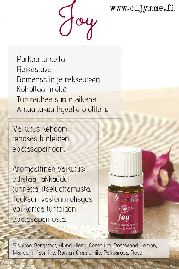 #joy #young living #essential oils #eteeriset öljyt #www.oljymme.fi