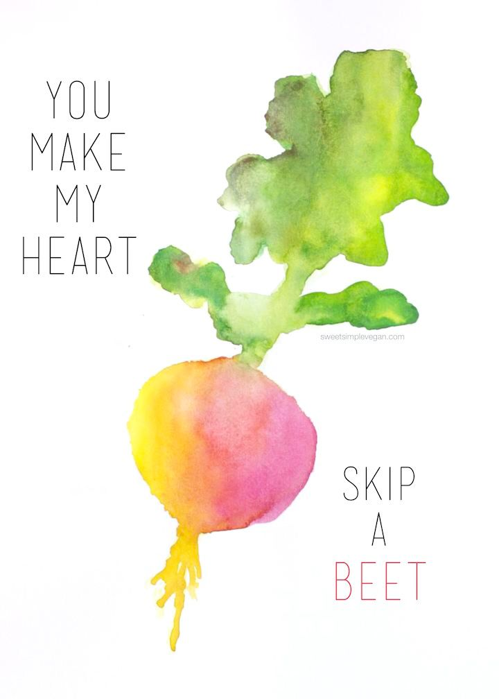A simple and fun DIY handmade vegan valentine's day card project for your valentine this year! They will love these fruit puns!