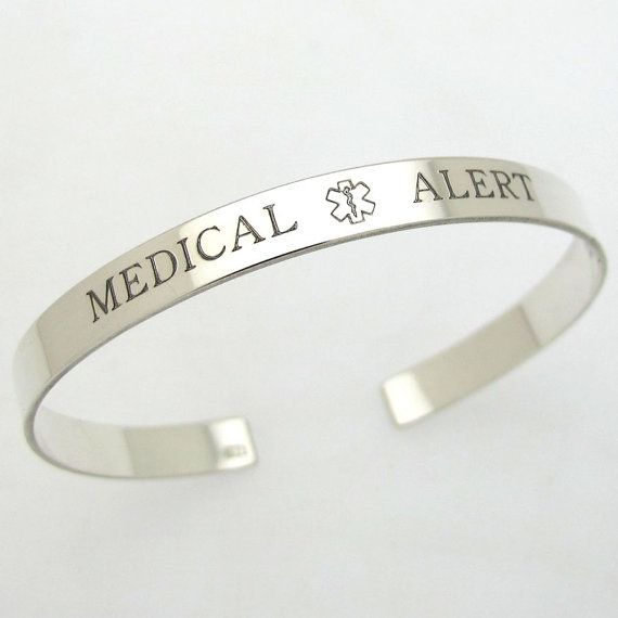 Custom Medical ID Bracelet  Personalized Diabetic by MensGift