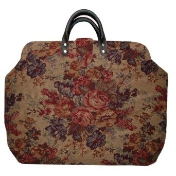 Victorian Floral Tapestry Carpet Bag-- perfect for a weekend in the country at a quaint bed and breakfast