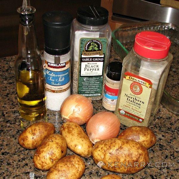 Roasted Potato and Onion Wedges: Simply Seasoned Side Dish - Kenarry