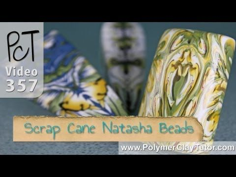 Video: Making Natasha Beads From Polymer Cane End Pieces  #Polymer #Clay #Tutorials