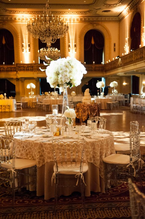 Omni William Penn Hotel Grand Ballroom #PittsburghWeddings Photo Credit: Craig Photography