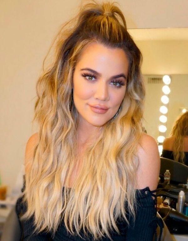 Inspiração de messy hair Khloé Kardashian