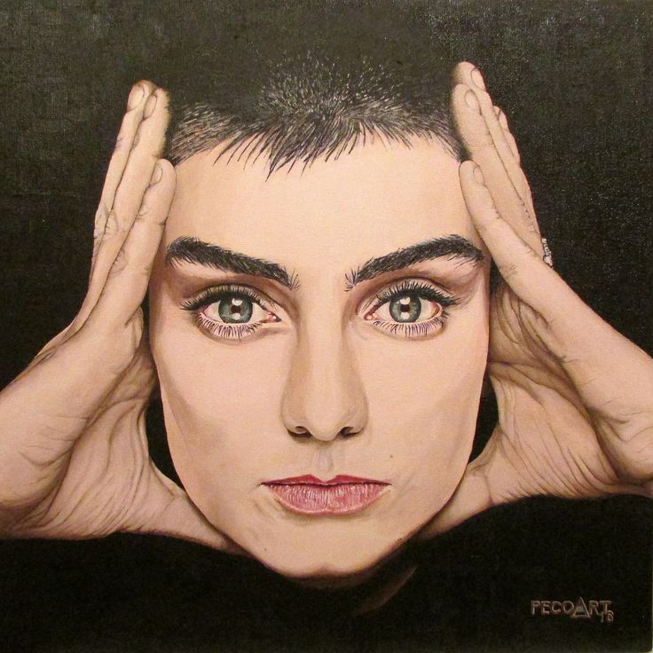 Sinéad O'Connor by Peco Art ...Oil on canvas, 50x50cm...