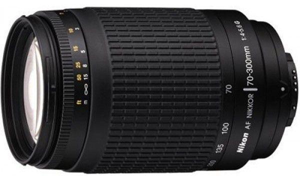 Nikon AF Zoom-Nikkor 70-300mm f/4-5.6G (Black) Lens