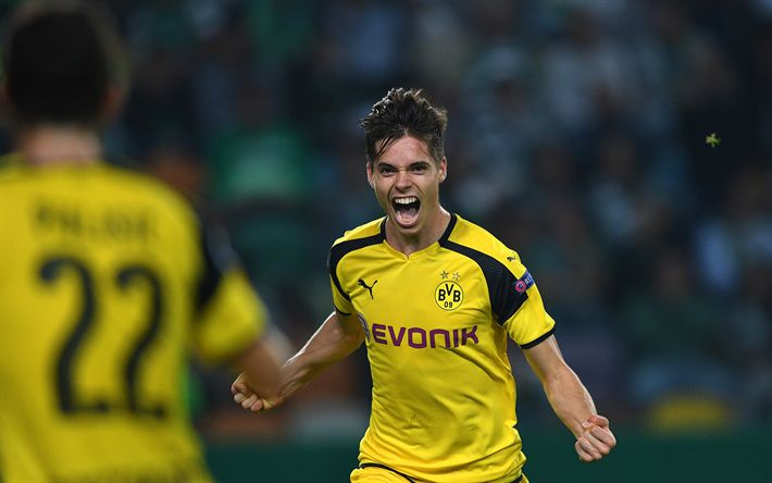 Download wallpapers Julian Weigl, Borussia Dortmund, German footballer, Germany, Bundesliga, football