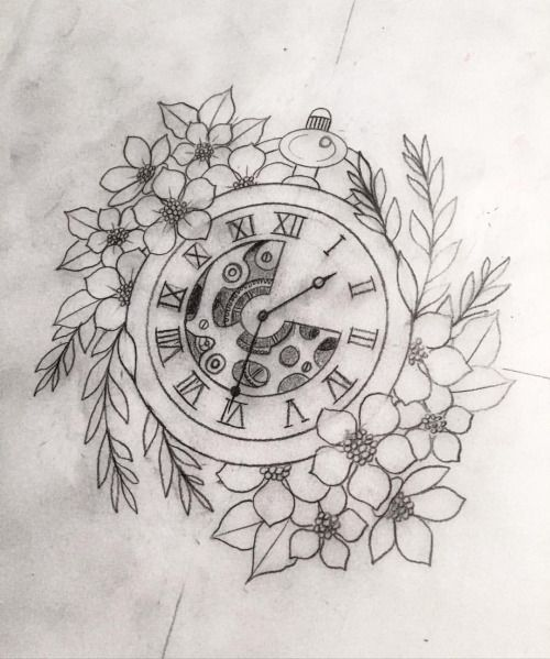 My Tattoo Work • Pocket watch fun ⏱   #sketch #drawing #tattoo...