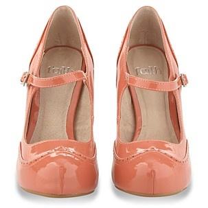 Faith peach shoes