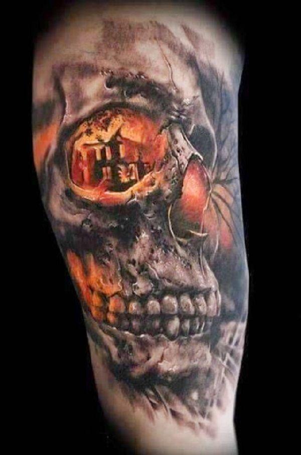 Skull Tattoos 28 - 80 Frightening and Meaningful Skull Tattoos
