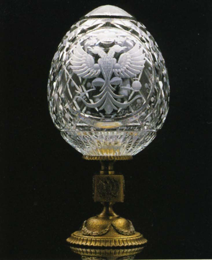 Grand Romanov Eagle Crystal Faberge Egg