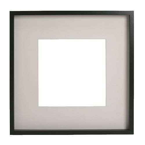 Buy for square skull print -  IKEA - RIBBA, Frame, 50x50 cm, , You can place the motif on the front or back of the extra deep frame.The mount enhances the picture and makes framing easy.PH-neutral mount; will not discolour the picture.Adapted in size to hang several together.