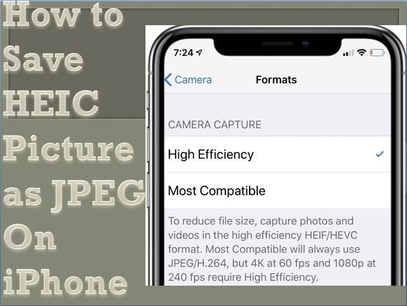 How To Save Heic Picture As Jpeg On Iphone Angelsmith11 Over Blog Com Iphone Technology Ipad Picture Iphone Photos