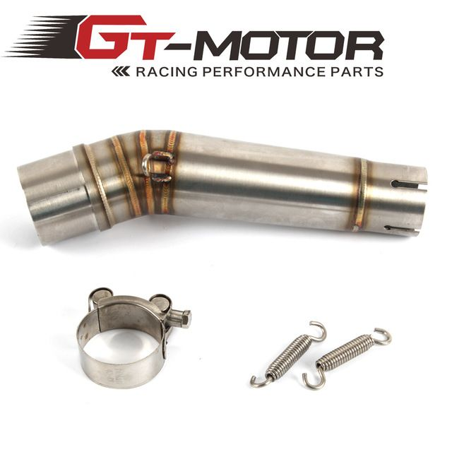 GT Motor - Motorcycle Exhaust middle pipe for HONDA NC700 2012-2017 without exhaust Slip-On