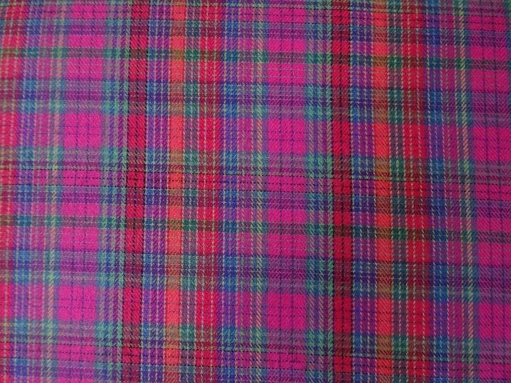 Flanell+Karo+pink+grün+Baumwolle++von+Knuddelbuntes+Material+und+süße+Applikationen++auf+DaWanda.com