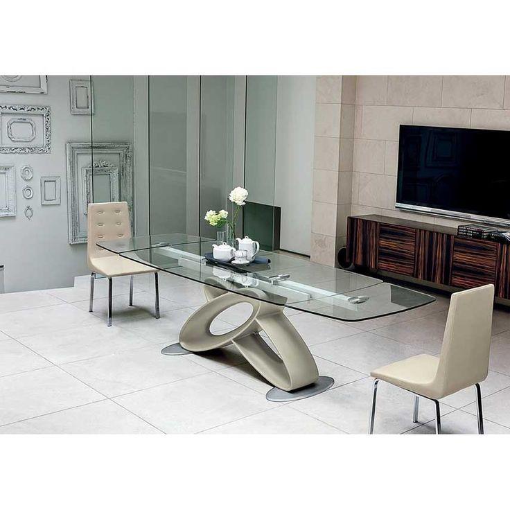Tavolo allungabile moderno Target Point Eclipse dal design ricercato e particolare, un gioco di forme che rende questo tavolo moderno unico nel suo genere.