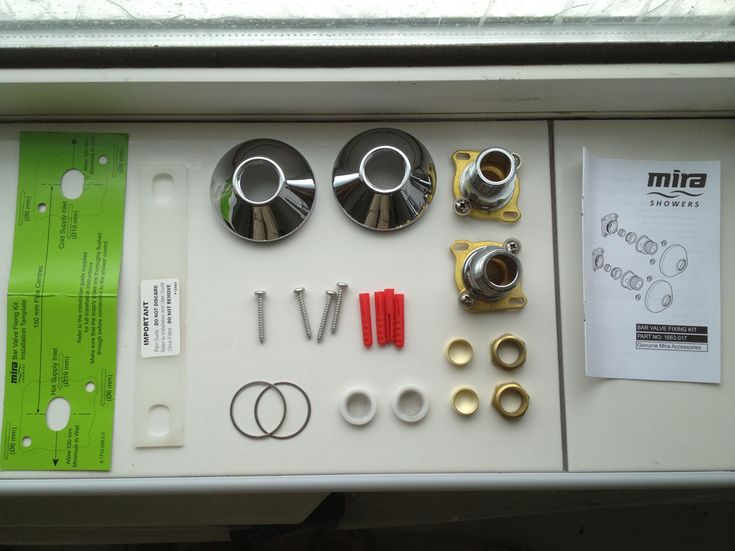 How to Fit a Bar Mixer Shower With Mira Fixing Kit
