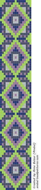 Scheme bracelet - machining weaving / Tapestry weaving