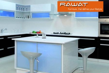 A well organised kitchen saves time and looks great. Be more organized with stylish modular kitchens from Rawat Furniture.