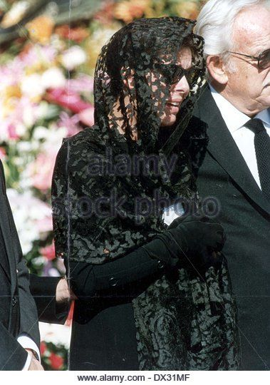 8th October 1990--Wearing A Black Veil And Dark Glasses Princess - Stock Image